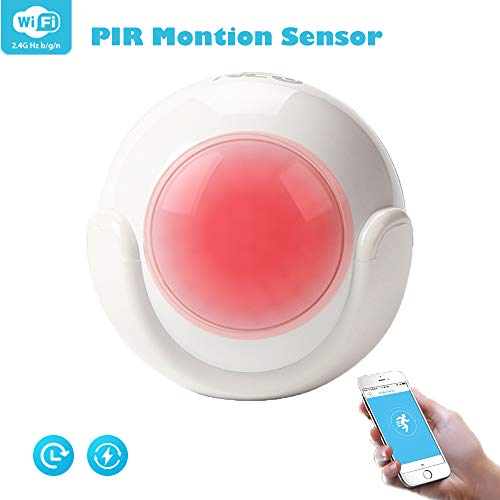 Wifi Smart PIR Bewegingssensor, Smart Home Security Alarm Infrarood Detector Spraakbesturing Zonder Hub