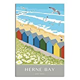 ASFGH Herne Bay, Kent Vintage-Reiseposter, Dekor, Malerei,