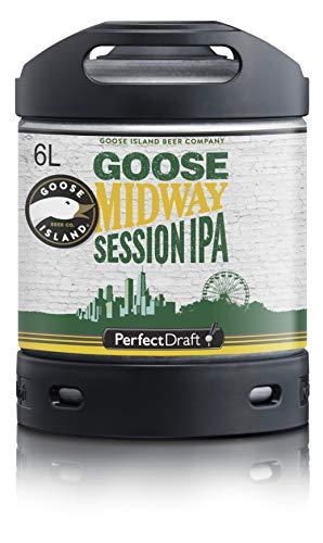 Cerveza PerfectDraft un barril de 6 litros de Goose Island Midway IPA - Sesión IPA. Máquina de tiro casera. Incluye un depósito de 5 euros.