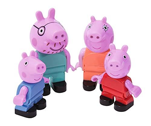BIG-Bloxx Peppa Pig Peppa´s Family - Mama und Papa Wutz, Schorsch und Peppa, Ergänzung zu den Spielesets der BIG Bloxx Reihe, 4 Spielfiguren für Kinder ab 18 Monaten