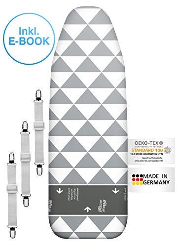 arteneur Premium de Alta Velocidad para Tabla de Planchar 120x 40para Plancha de Vapor, Fabricado en Alemania, Rápido & cómodos Planchar con 3Tensor & S de portatil