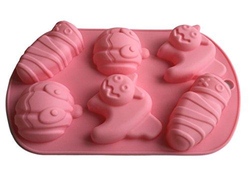 ROYAL HOUSEWARE Halloween Kürbis Katze Monster Silikonform Backform Schokoladenform Pralinenform Cupcake Keks Kuchen Basteln Backen Verzieren Grusel Geister Formen Eiswürfelform