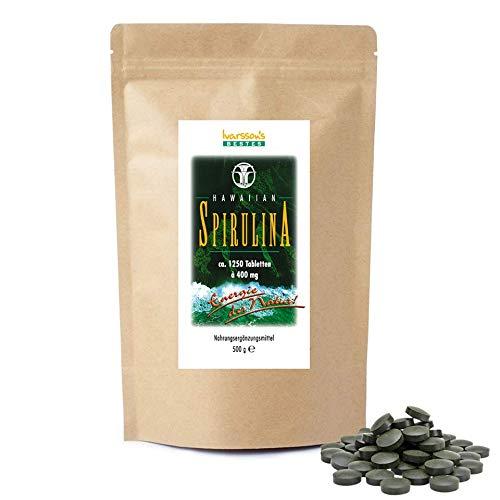 Spirulina 1250 Tabletten + Vitamin K natürlich - Vitamin K1 - Vitamin K2 - Hawaiian Spirulina - Das Original aus Hawaii - 1250 Tabletten a 400 mg - versandkostenfrei