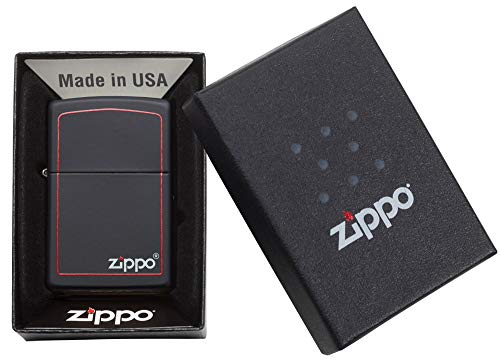 Zippo Windproof Lighter| Metal Long Lasting Zippo Lighter|Best with Zippo Lighter Fluid| Refillable Lighter|Perfect for Cigarettes Cigars Candles|Pocket Lighter Fire Starter|Classic Black & Red Zippo