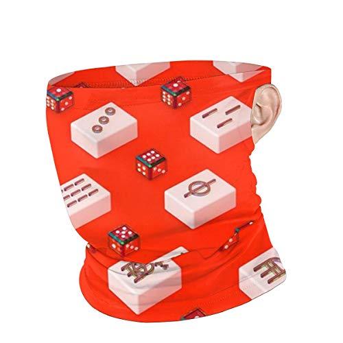 Mahjong Würfelspiel Winddichte Gesichtsabdeckung mit Ohrschlaufen, multifunktionale Kopfbedeckung für Männer Frauen