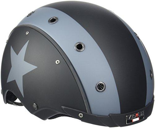 Casco E.Motion Star específico para Bicicleta eléctrica, Unisex, Negro/Gris, 52-57 cm