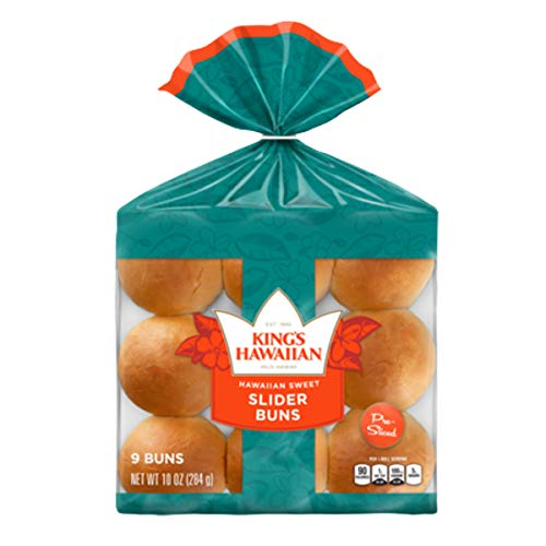 Kings Hawaiian Original Sweet Pre Sliced Slider Buns, 10 Ounce (Pack of 3)