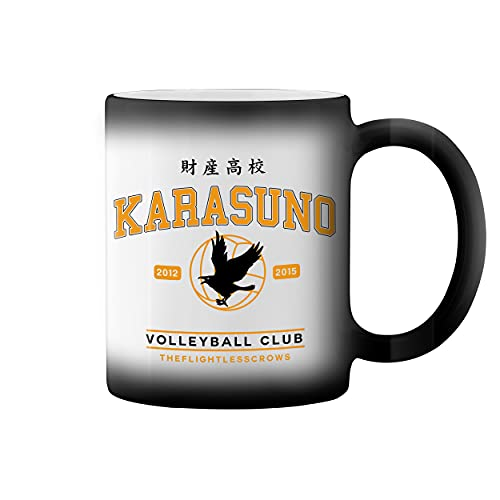 Karasuno High School Shield Taza de caf negro mgico Mug