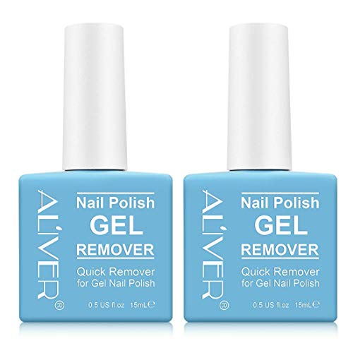 Magic Nail Polish Remover (2 Pack) - Remove Gel Nail Polish Within 2-3 Minutes - Quick & Easy Polish...