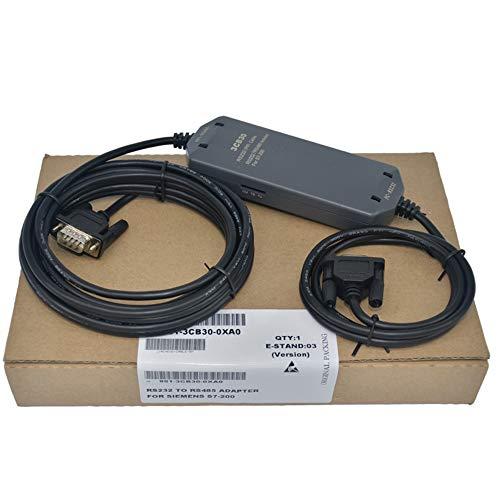 1Pack S7-200 PLC Cable de Programación PC-PPI+ Adaptador Compatible Siemens 6ES7901-3CB30-0XA0 Línea de Descarga PC-PPI Cable con Protección Completa Aislado RS232/PPI PC/PPI