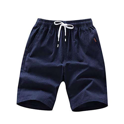 Lilon Kurze Hose für Herren, Tendenz, Jugend, mit Taschen, mit fünf Punkten L Marine L