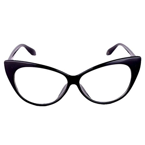 Fltaheroo Gafas de Nerd Geek de lentes claros unisex bonitas de moda