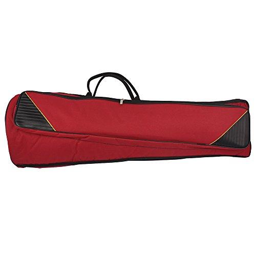 Bolsa de transporte para trombón, resistente al agua, con asa al hombro ajustable, con bolsillos de 5 mm de grosor, de algodón, acolchado, de la marca Andoer®, Claret Red