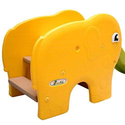 LittleTom Toboggan Forme éléphant 153x50x73cm pour Enfant à partir de 1 an Jaune...