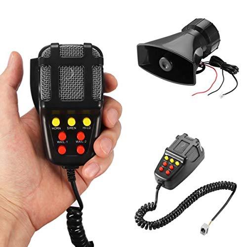HIUHIU Laute Autohupe Notfall Polizei Sirene Motorrad Lufthorn Mikrofon PA-Lautsprecher-System