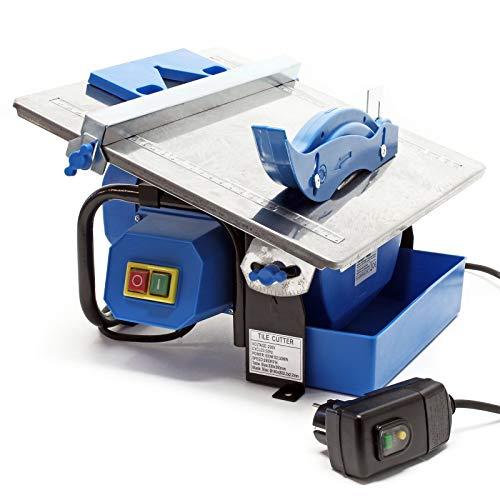 Cortadora azulejos eléctrica 600W Corte húmedo Grosor baldosa 34mm Gres Cerámica Losetas...