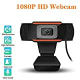 XIAOGE 1080p HD Webcam with Microphone, 110-Degree...