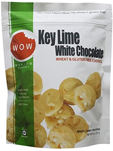 Key Lime White Chocolate Bagged Cookies: 8 oz by WOW Baking Company