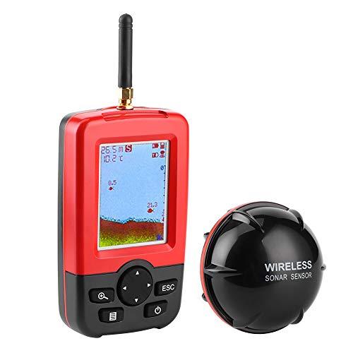 Buscador de peces, 120 pies de profundidad, 328.1 pies, sensor de sonda inalámbrico, pantalla LCD, kayak de mano, buscador de peces, detector de peces portátil, para barco, pesca, pesca en el mar