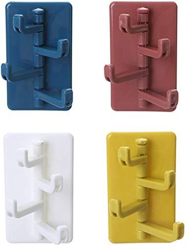 N\C Mehrzweckhaken 8 Stück Selbstklebende Haken Wasserdicht Ohne Bohren Wandhaken Max 3kg Handtuchhaken für Küche Badezimmer Büro