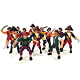 Kicko Pirate Action Figures - 24 Pack - for Imaginary Play, Gift and Prizes - Assorted, 3 to 4 Inches