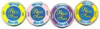 Poker Stars Caribbean Adventure set of 4 Poker Chips
