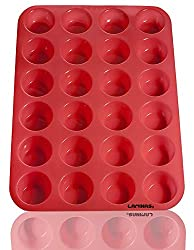 Silicone Mini Muffin, Cupcake Baking Pan 24 Cup