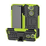 JZ Tire Pattern Funda For para LG X Power 3 / X Power 2 with [Kickstand] Shockproof Scratch-Resistant Back Cover - Green