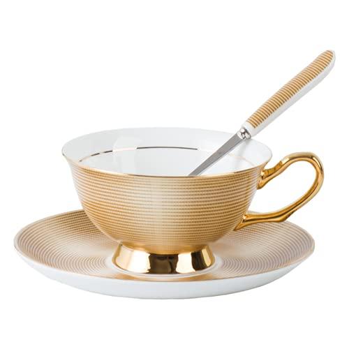 Juego de tazas y platillos de estilo europeo de porcelana de cerámica, para el desayuno, el hogar, la cocina, el hogar, restaurantes, exhibición y regalo de vacaciones