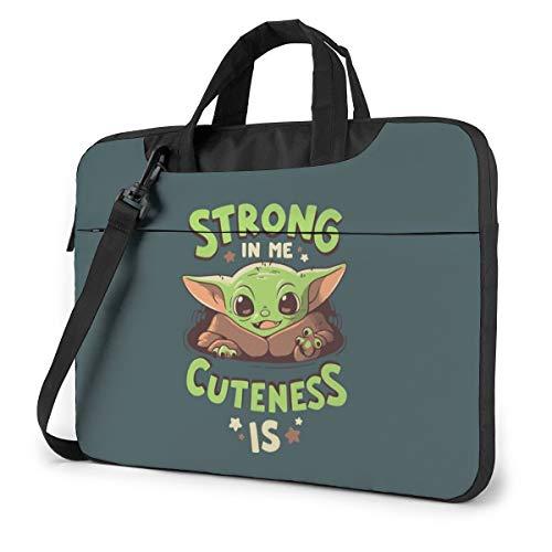 Baby Yoda Cuteness - Funda de hombro a prueba de golpes para portátil (tela Oxford, 13 pulgadas, 14 pulgadas, 15.6 pulgadas)