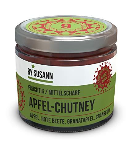 BY SUSANN - 09 APFEL-CHUTNEY im Glas (1 x 150 g), Geschmackserlebnisse mit intensiven und natürlichen Aromen, fruchtig, mittelscharf