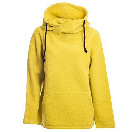 Mufflon Damen Wollpullover Mu- Sina W100 Honey gelb - S