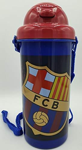 ML FC Barcellona - Bottiglia di acqua ermetica, senza gocciolamenti, colore blu, 500 ml