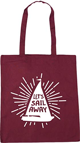 Hippowarehouse Let's Sail Away Tote Shopping Gym Beach Bag 42cm x38cm, 10 litres