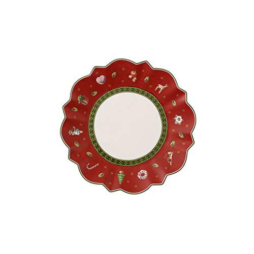 Villeroy & Boch Toy's Delight Piatto da Pane, Rotondo, Porcellana, Rosso, 17x17x0.1 cm