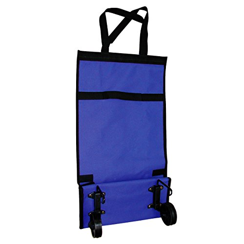 MSV 120001, Carrito De Compras Plegable Pequeño, Azul, 55,5 x 30 x 15 cm