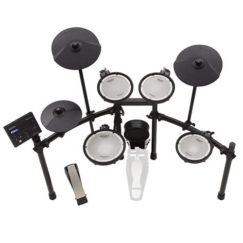 Kit de V-Drums electrónico Roland TD-07KV – Mítico kit de parche de malla de doble capa con...