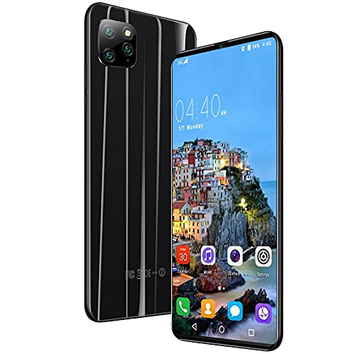 Smart Cell Phone, Android, Unlocked Mobile,Dual Card Dual Standby, 6.1 Inches HD Screen, RAM 4GB, ROM 256GB, Face Recognition, WiFi+BT+FM, Support TF,Suitable for Elderly, Adults, Students