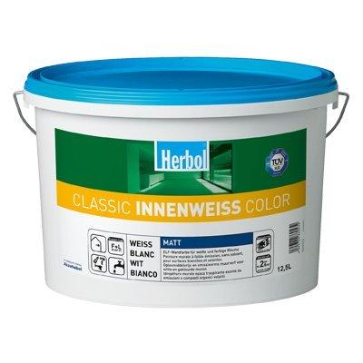 Herbol Classic Innenweiss Color Wand und decken farbe Weis Matt 5 Liter