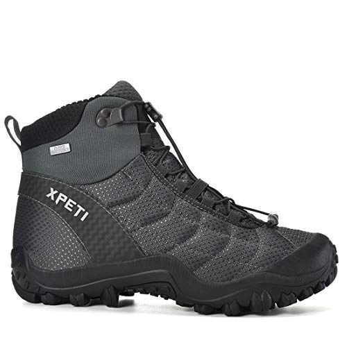 XPETI Men's Crest Thermo Waterproof Hiking Trekking Outdoor Boot (13, Grey/Black)