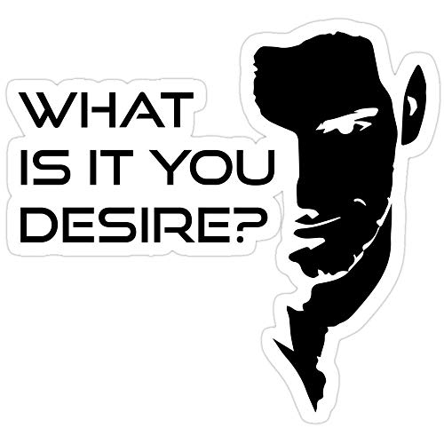 Jess-Sha Store 3 PCs Stickers Lucifer Morningstar What is It You Desire, Lucifer morningstar Sticker for Laptop, Phone, Cars, Vinyl Funny Stickers Decal for Laptops, Guitar, Fridge