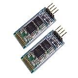 SUBALIGU 2pcs HC-06 RS232/TTL 4 Pin Wireless Bluetooth Serial RF Transceiver Module Bi-Directional Serial Channel Slave Mode for Arduino