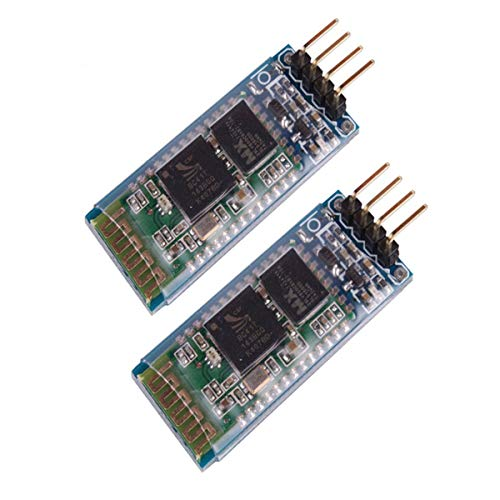2pcs HC-06 RS232/TTL 4 Pin Wireless Bluetooth Serial RF Transceiver Module Bi-Directional Serial Channel Slave Mode for Arduino
