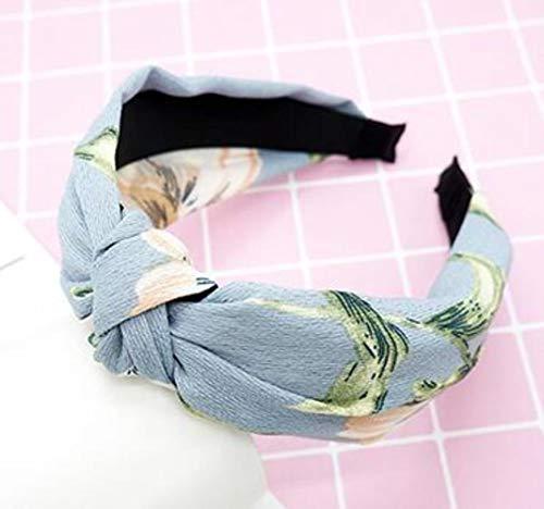 FISISZ Croisé Noué Femmes Cheveux Accessoires Couleur Unie Large Noué Bandeau Rétro Simple Tissu Tête Boucle Presse Chapeaux, comme Image 32