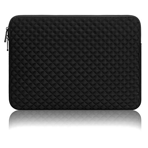ARVOK 11-12 inch Laptophoes Veelkleurige en Formaatkeuzes Case/Waterbestendig Diamantschuim Lycra-doek Notebookcomputer Zak Tablet Aktetas Draagtas voor Acer/Asus/Dell/Lenovo/HP (Zwart)