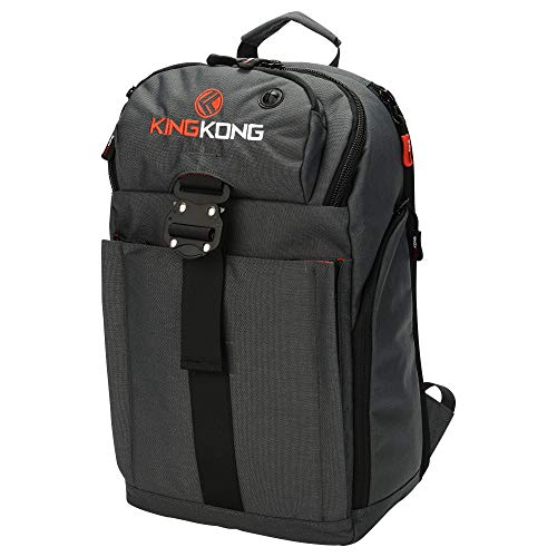 """King Kong Mini Backpack - Military Spec Nylon Gym Backpack with Expandable Pockets and Heavy Duty Buckles for Active Lifestyle - 18"""" x 11"""" x 5.5"""" - Charcoal"""