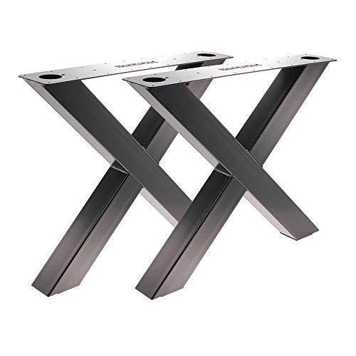 Bentatec 2 Stück Tischgestell X100/100 Schwarz