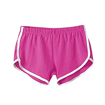 Womens Workout Shorts for Summer Beach Biker Running Volleyball Pants Comfortable Casual Vintage Lounge Short Hot Pink