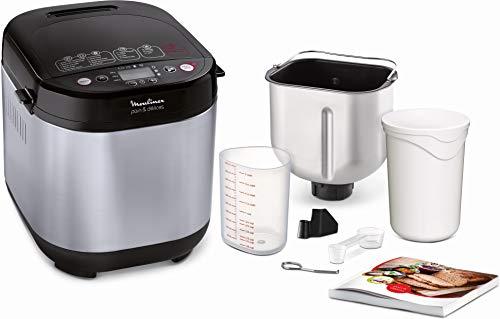 Moulinex Pain & Délices OW240E30 - Panificadora 1 kg, función yogur, pan sin gluten, pan casero, 20 programas automáticos, temporizador de 15 h, función mantenimiento de 1 h, libro de recetas incluido