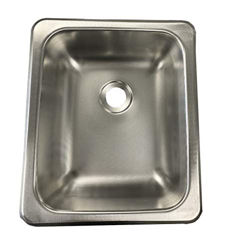 Class A Customs | 13 X 15 Stainless Steel Sink | 300 Series Stainless Steel | RV Camper Motor Home Sink | Concession Sink